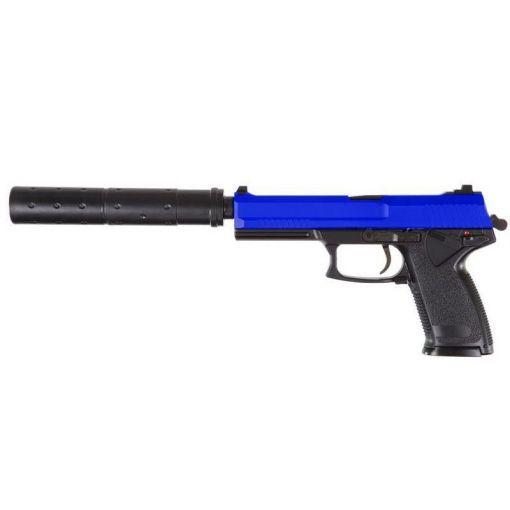 HFC MK23 SOCOM Gas Pistol with Silencer - Blue