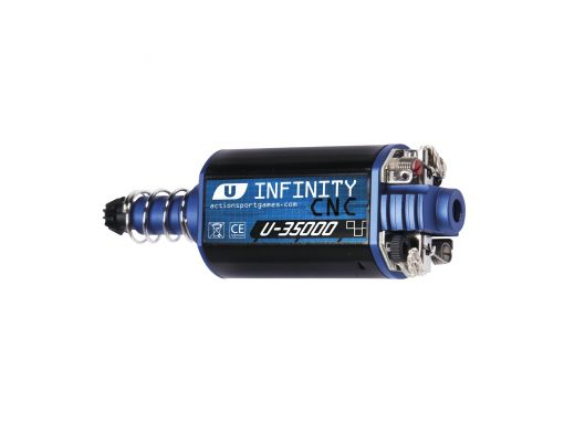ASG Infinity CNC Ultimate Motor. 35000RPM, Long Axle.