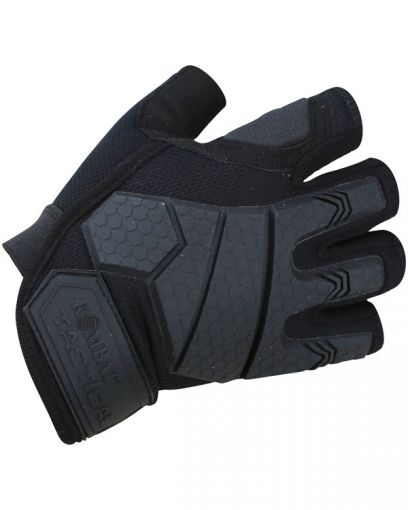 Kombat UK Alpha Fingerless Tactical Gloves - Black