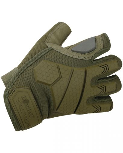 Kombat UK Alpha Fingerless Tactical Gloves - Coyote