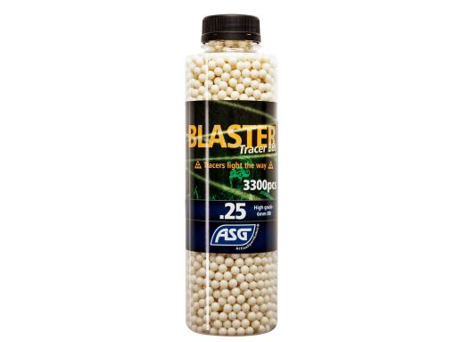 ASG Blaster Tracer 0,25g Airsoft BB in Green color -3300 pcs. in bottle