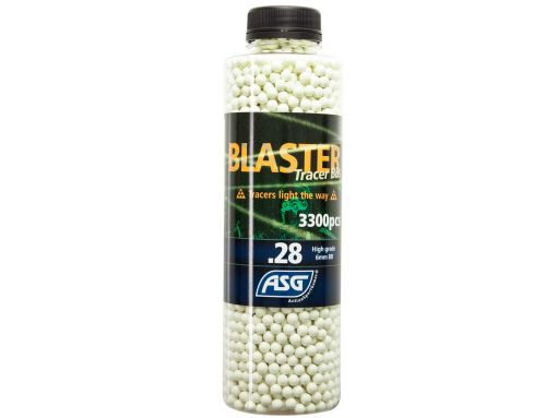 ASG Blaster Tracer 0,28g Airsoft BB in Green color -3300 pcs. in bottle