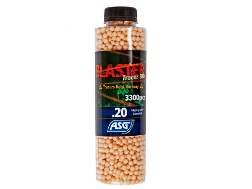 ASG Blaster Tracer 0,20g Airsoft BB in Red color -3300 pcs. in bottle