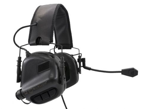 Earmor M32 Electronic Hearing Protector With Coms Black