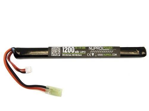Nuprol Power 1200MAH 7.4V 20C LIPO Slim Stick Type (AK)