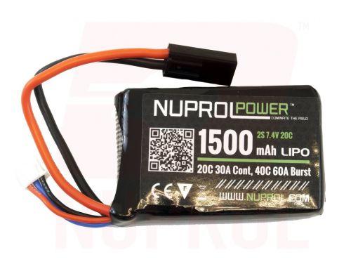 Nuprol POWER 1500MAH 7.4V 20C PEQ MICRO LIPO - Deans