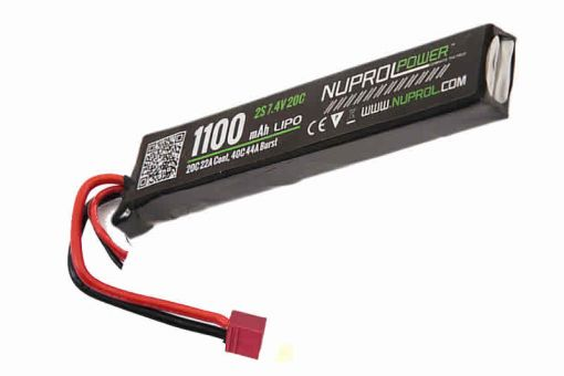 NUPROL LIPO 1100MAH 7.4V 20C STICK TYPE - Deans