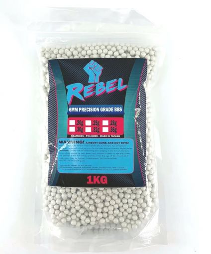 Rebel Precision 6mm BBs 1kg Bag - 0.25g