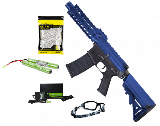 Nuprol Delta: Pioneer Breacher Airsoft Starter Bundle (Two Tone Blue)