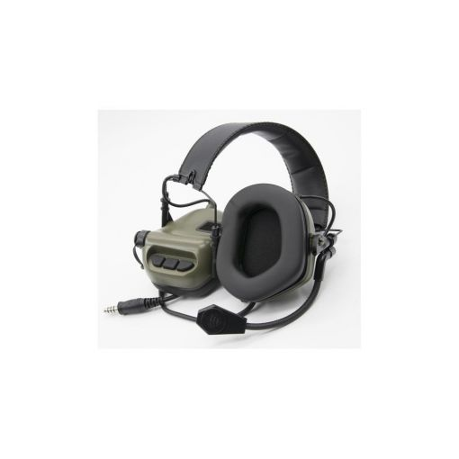 Earmor M32 Electronic Hearing Protector With Coms Green