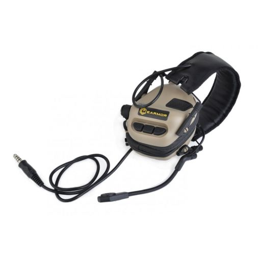 Earmor M32 Electronic Hearing Protector With Coms Tan