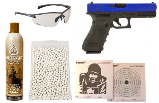 Raven EU18 Dual Tone Airsoft Pistol Package