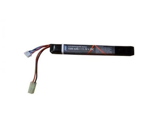 ASG 11.1V 1500MAH 20C LIPO Stick Battery