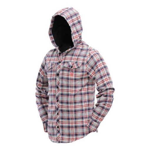 DYE Hooded Flannel - Grey/Red