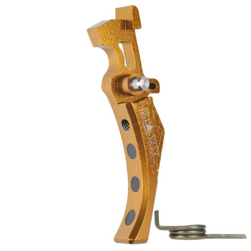 Maxx CNC Aluminum Advanced Trigger (Style D) Gold