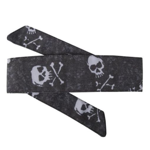 HK Hostilewear Headband - Bones White