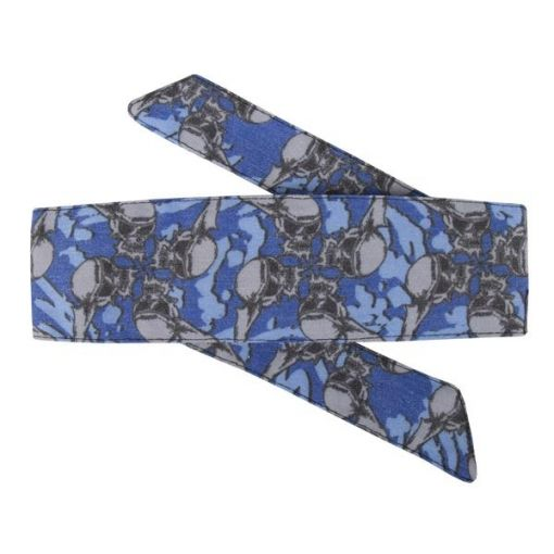 HK Hostilewear Headband - Skulls Blue