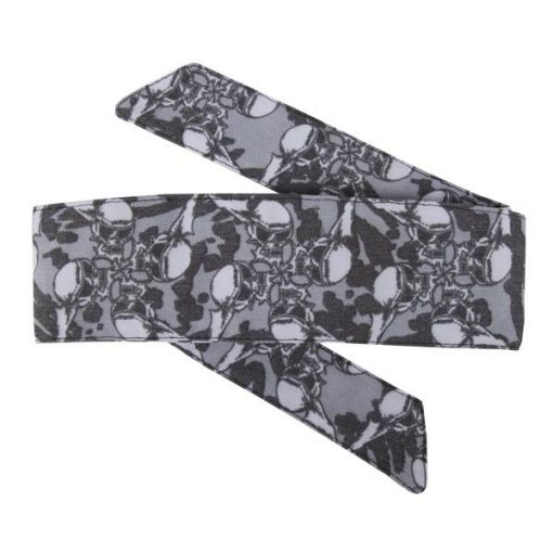 HK Hostilewear Headband - Skulls Grey