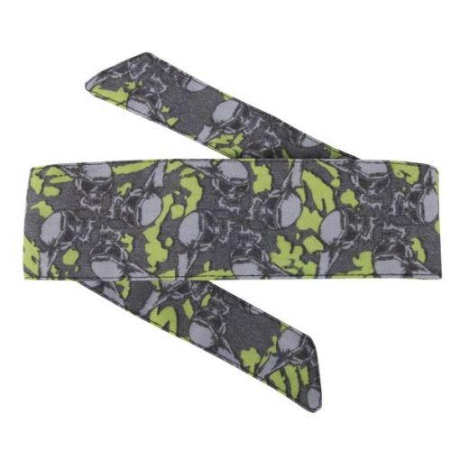 HK Hostilewear Headband - Skulls Neon/Grey