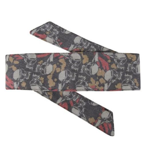 HK Hostilewear Headband - Skulls Tan/Red