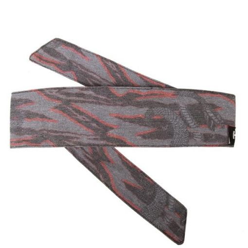 HK Hostilewear Headband - Snakes Grey/Red