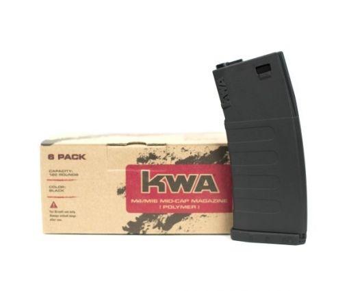 KWA K120 Polymer M4 Mid Cap 6 Pack - Black