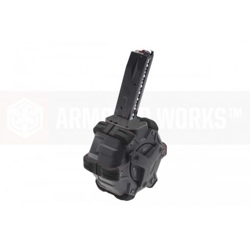 Armorer Works Custom Adaptive Drum Magazine - Black -  M92/MB Series