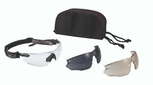 Bolle Combat Kit Platinum Clear Military Safety Glasses