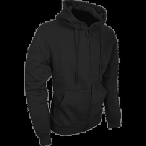 Tactical Zipped Hoodie - Black