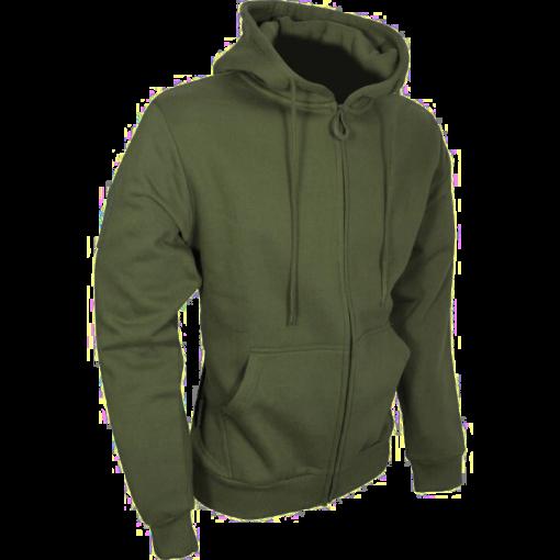 Tactical Zipped Hoodie - Green