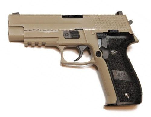 WE F226 MK25 Gas Blowback Pistol - Tan