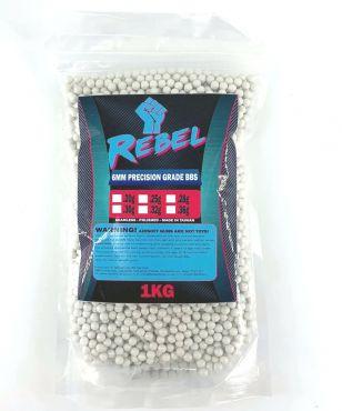 Rebel Precision 6mm BBs 1kg Bag - 0.25g